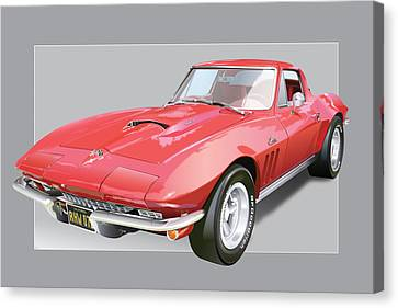 1967 Chevrolet Corvette Canvas Print by Alain Jamar