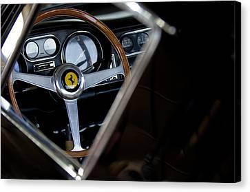 1967 Ferrari 275 Gtb 4 Steering Wheel Emblem Canvas Print by Jill Reger