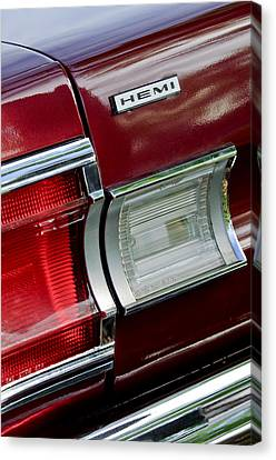 1967 Plymouth Hemi Taillight  Canvas Print by Jill Reger