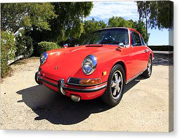 Canvas Print featuring the photograph 1968 Porsche 911 by Denise Pohl