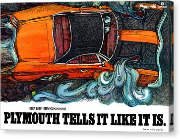 1969 Plymouth Road Runner Canvas Print