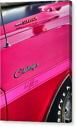 1970 Dodge Challenger Rt 440 Six Pack - Tickled Pink Canvas Print by Gordon Dean II