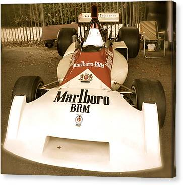 Canvas Print featuring the photograph 1971 Brm P160 Formula 1 Grand Prix Car by John Colley