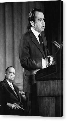 1971 Us Presidency.  Fbi Director J Canvas Print by Everett