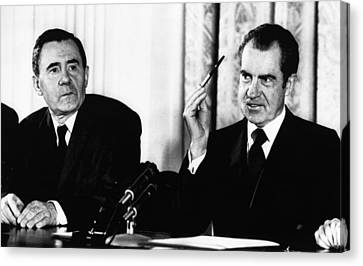 1972 Us Presidency, Cold War.  Us Canvas Print by Everett