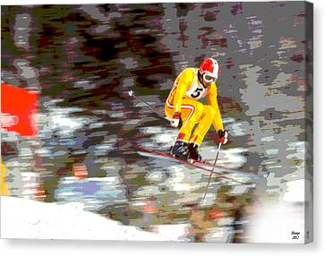 Alpine Canvas Print - 1972 Winter Olympics by Charles Shoup