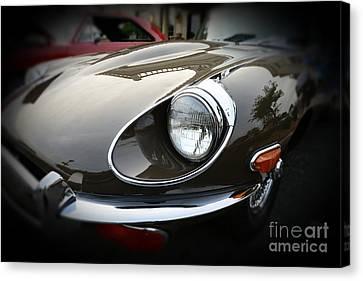 1973 Jaguar Type E Front Canvas Print by Paul Ward
