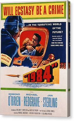 1984, Jan Sterling, Edmond Obrien, 1956 Canvas Print
