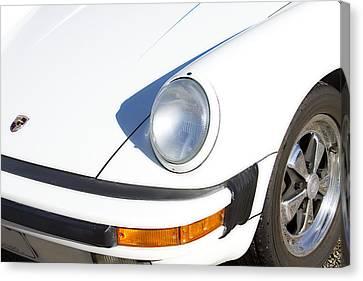 1987 White Porsche 911 Carrera Front Canvas Print by James BO  Insogna