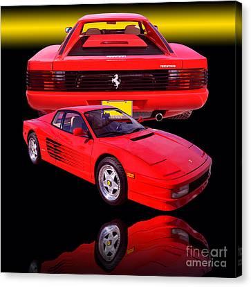 1990 Ferrari Testarossa Canvas Print by Jim Carrell