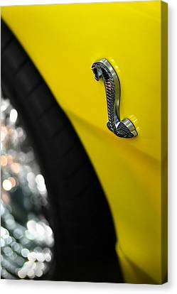 Yellow Cobra Canvas Print - 1998 Ford Mustang Cobra by Gordon Dean II