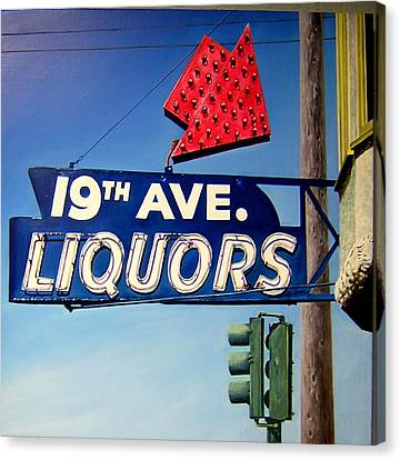 19th Ave Liquors Canvas Print by Jim Gleeson