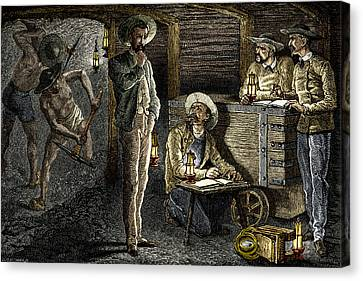 19th-century Coal Mining Canvas Print