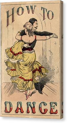 19th Century Dance Manual, How Canvas Print by Everett
