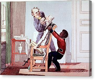 19th Century Dentistry Tooth Extraction Canvas Print by Science Source