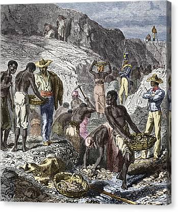 19th-century Diamond Mining, Brazil Canvas Print