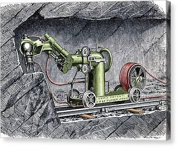 19th-century Mining Machine Canvas Print