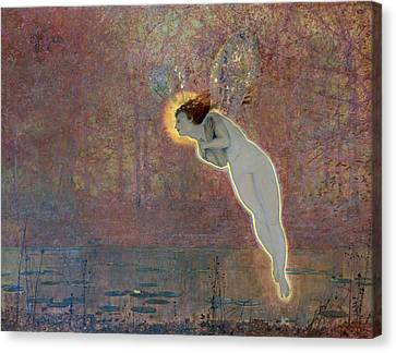 19th Century Painting Of Angel Canvas Print by Photos.com