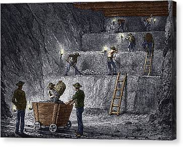 Simonin Canvas Print - 19th-century Step Mining, Prussia by Sheila Terry