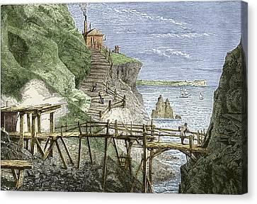 19th-century Tin Mine, Cornwall Canvas Print