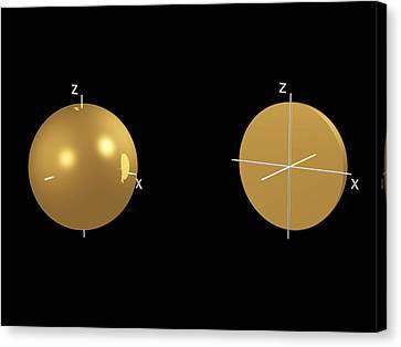 1s Electron Orbital Canvas Print by Dr Mark J. Winter