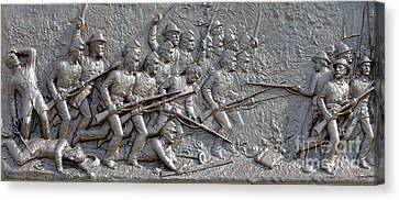1st Minnesota Monument At Gettysburg Canvas Print by Randy Steele