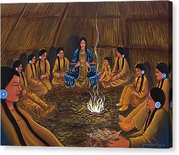 1st Pipe Ceremony Canvas Print by James Roderick