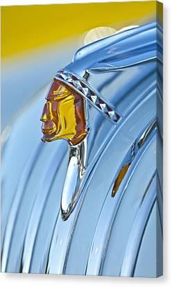 1948 Pontiac Chief Hood Ornament Canvas Print by Jill Reger