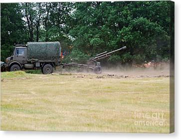 A Belgian Artillery Unit Setting Canvas Print by Luc De Jaeger