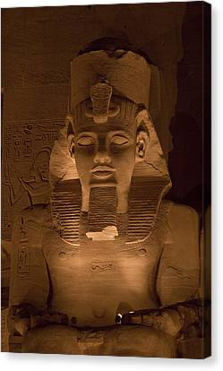 A Close View Of Ramses IIs Temple Canvas Print by Taylor S. Kennedy
