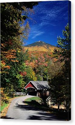A Covered Bridge Canvas Print by Richard Nowitz