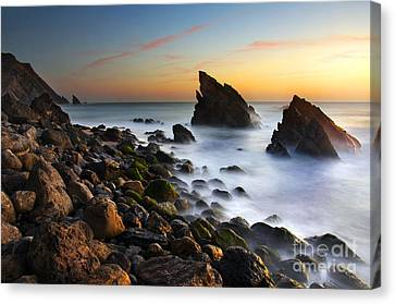 Adraga Beach Canvas Print by Carlos Caetano