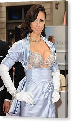 Adriana Lima At In-store Appearance Canvas Print