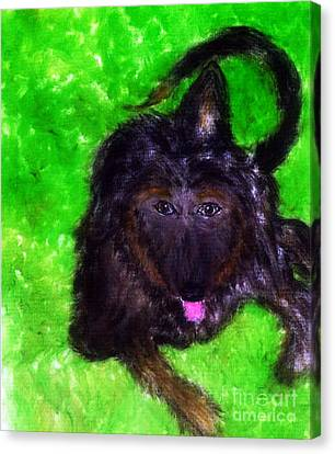 Canvas Print featuring the painting AJ by Ayasha Loya