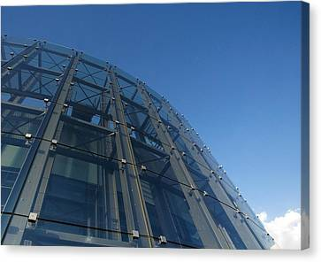 Glass And Metal Art Canvas Print - Alcorcon Arts Creation Centre by Carlos Dominguez