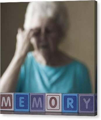 Frailty Canvas Print - Alzheimer's Disease, Conceptual Image by Cristina Pedrazzini