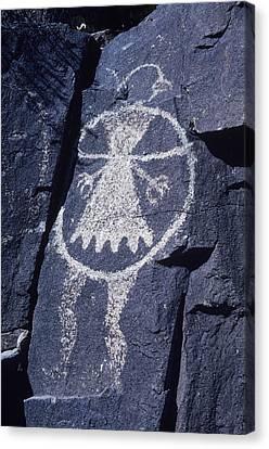 Ancient Pueblo-anasazi Rock Art Canvas Print by Ira Block