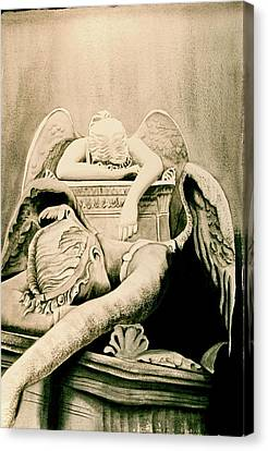 Angel Of Grief Canvas Print