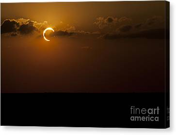 Annular Solar Eclipse Canvas Print by Phillip Jones