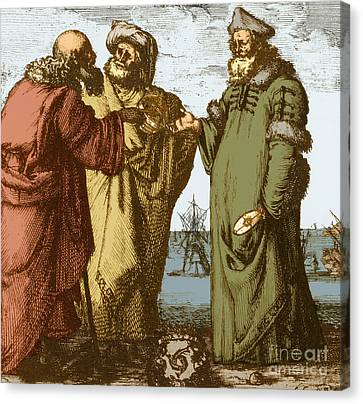 Aristotle, Ptolemy And Copernicus Canvas Print by Science Source