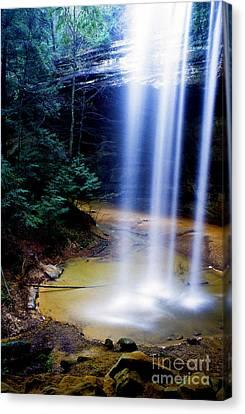 Ash Cave Waterfall Canvas Print by Thomas R Fletcher