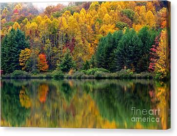 Autumn Big Ditch Lake Canvas Print by Thomas R Fletcher