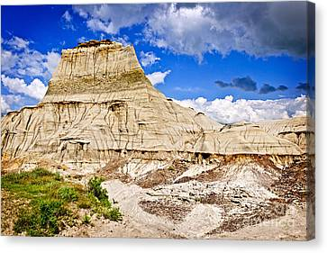 Badlands In Alberta Canvas Print