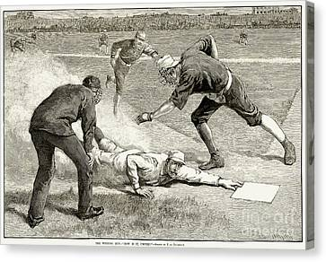 Ewing Canvas Print - Baseball Game, 1885 by Granger