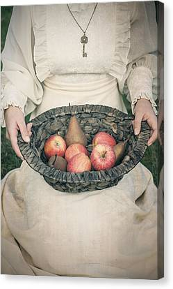 Basket With Fruits Canvas Print by Joana Kruse