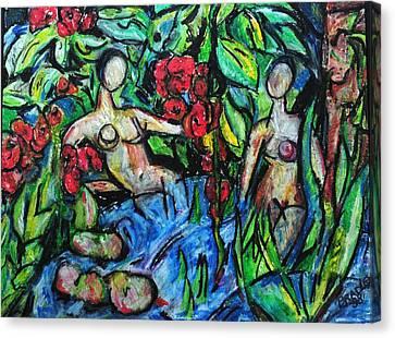 Bathers 98 Canvas Print by Bradley Bishko