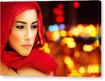 Beautiful Arabic Woman Canvas Print
