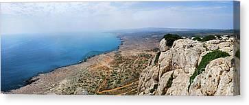 Beautiful View On Mediterranean Sea From Cape Gkreko In Cyprus Canvas Print by Oleksiy Maksymenko