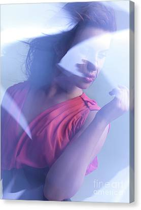 Beauty Photo Of A Woman In Shining Blue Settings Canvas Print by Oleksiy Maksymenko