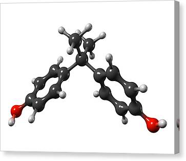 Bisphenol A Organic Pollutant Molecule Canvas Print by Dr Mark J. Winter